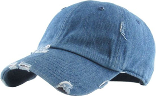 Vintage Washed Distressed Cotton Dad Hat Adjustable Solid Blank Unisex Style Baseball Cap