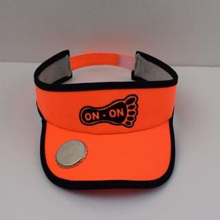 BSCI Audit Unisex Orange Dry-Fit Fabric Sports Golf Bottle Opener Visor with Sweatband