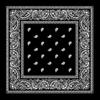 Hot Sales Promotional 100% Cotton 55cm*55cm Black White Paisley Square Printed Bandana